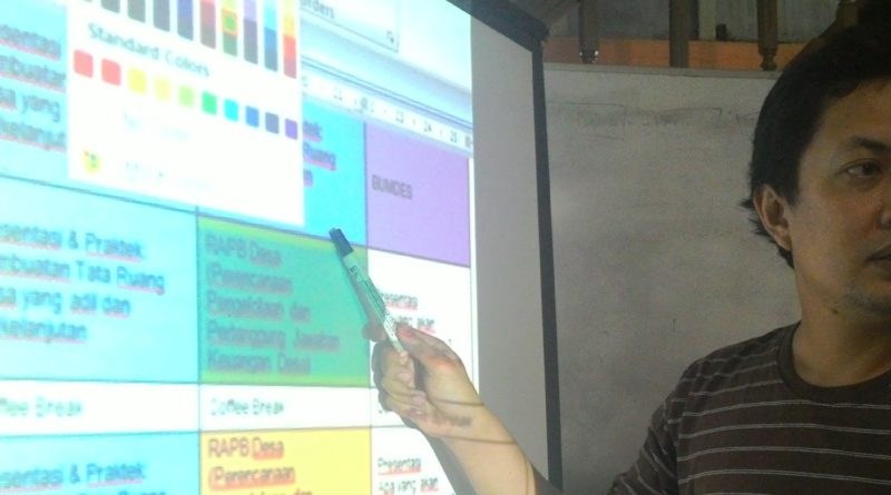Muhammad Zuni Irawan , koordinator Sekolah Desa Gemawan