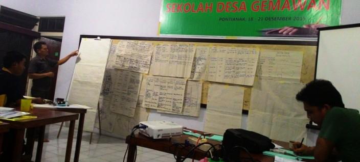 Fasilitator SI, Arif Munandar di Kelas I Angkatan I Sekolah Desa GemawanSe