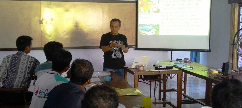 Fasilitator senior Swandiri Institute, Happy Hendrawan gagas Desa Swandiri