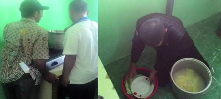 PUPUK ALAMI: Peserta dan Ir Joko Wiryanto sedang mempraktikkan teknik pembuatan pupuk alami di pelatihan pupuk organik yang diselenggarakan Gemawan, 28-29 Mei 2016. Foto: Agus Budiman/GEMAWAN.